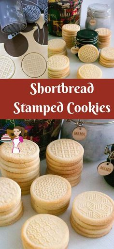 These shortbread stamped cookies are buttery and with a soft crumb that almost melt in the mouth. They are simple and easy to make so they are great when you need an afternoon tea cookie or if you wan (Christmas Bake Shortbread) Butter Shortbread Cookies, Shortbread Recipes, Galletas Cookies, Sugar Cookies, Tea Cakes, Holiday Baking, Christmas Baking, Stamp Cookies Recipe, Cookie Stamp