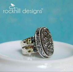 "RockHill Designs - ""Shimmering Sands"" druzy ring  www.rockhill-designs.com/tinaburgess"