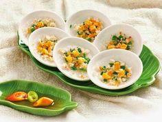(Bánh bèo) - Steamed Rice Cakes with Shrimp and Pork Rinds
