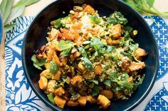 Sweet roasted pumpkin, juicy currants and zesty orange juice give a simple couscous salad a bold flavour boost.
