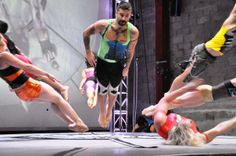 STREB Performance: combines dance, actions sports, and human flight in classes ranging from Parkour and trapeze, to tightrope and the Cyr Wheel ( the wheel that spins you like a coin)  Location: Brooklyn NY