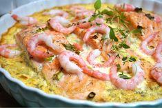 Krämig pepparrotslax med räkor Salmon Recipes, Fish Recipes, Seafood Recipes, Cooking Recipes, Salmon Dishes, Seafood Dishes, 300 Calorie Lunches, Zeina, Scandinavian Food