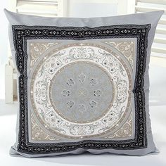 Good Quality Simple Circle Pattern Pillow Case(Without Pillow Inner)