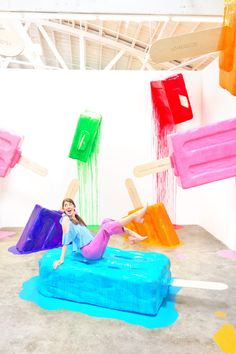 Paleterias Ideas, Ice Cream Museum, Cafe Interior Design, Stage Design, Booth Design, Candyland, Room Themes, Decoration, Mall