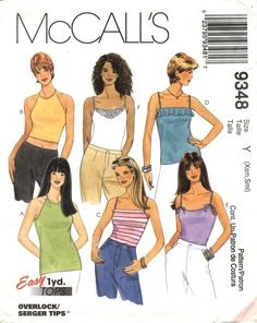 McCall's 9348 Misses' Tops for Stretch Knit