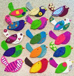 Polymer Clay Bird Ornaments - Kids Art Class Angela Anderson Art Blog