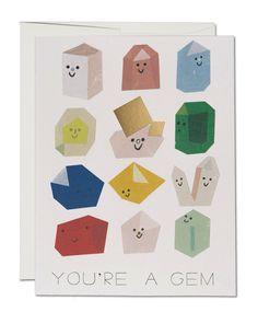 Gem Buddies Greeting Card