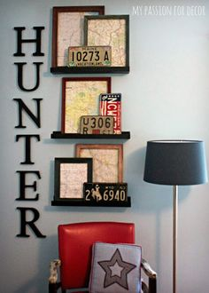 My Passion For Decor: Inexpensive Art using maps and thrift store frames.