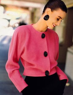Louis Dell'Olio for Anne Klein, Harper's Bazaar, September 1988. Photograph by Arthur Elgort.