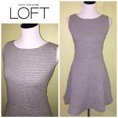 NWT LOFT gray skater dress size 12 petite Brand new and gorgeous! LOFT Dresses