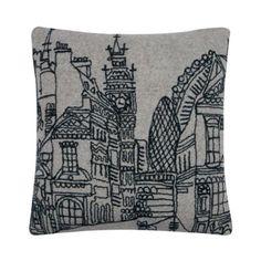 Ben de Lisi Home Designer grey London outline cushion- at Debenhams.ie