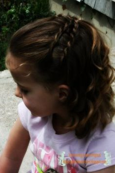 Flower Girl idea #2 Girly Do's By Jenn: Simple Double Twist