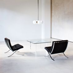 Mies van der Rohe Barcelona Chair and Table