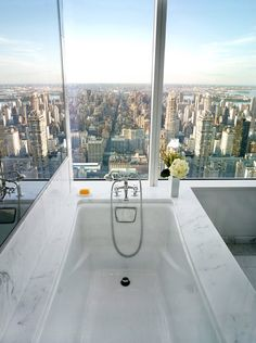 Penthouse views from the tub! #divine #bathtub
