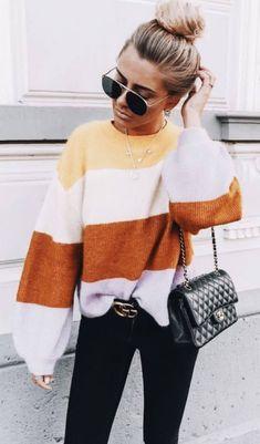 Stylish And Casual Fall Outfit Ideas For Womens Fashion Mode, Look Fashion, Fashion Outfits, Womens Fashion, Fall Fashion, Fashion Ideas, Fashion Trends, Fashion 2018, Feminine Fashion