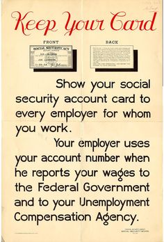 This Poster Announces The Passage Of The  Social Security
