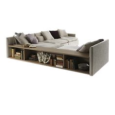 Versatility and customization: these are the salient features of a young, fresh-looking sofa that can effortlessly take  ...