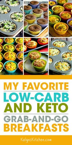 When I used to teach school I often had to eat breakfast in the car on the way to work, and this post has My Favorite Low-Carb and Keto Grab-and-Go Breakfasts! Be sure to PIN this collection, it has all my favorites! Some of these are things you might eat Grab And Go Breakfast, Low Carb Breakfast, Breakfast Recipes, Breakfast Ideas, Breakfast Gravy, Diabetic Breakfast, Breakfast Pancakes, Dessert Recipes, Best Low Carb Recipes