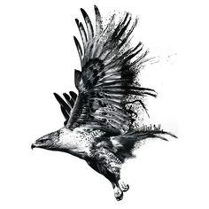 Eagle Tattoo - Soaring Eagle Design