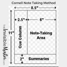 effective note taking tips, cornell note taking