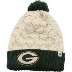 '47 Brand Green Bay Packers Ladies Matterhorn Cuffed Beanie - Natural/Green - Fanatics.com
