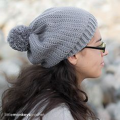 You'll love the clean lines in this cute slouchy hat, a perfect match to the Herringbone Buttoned Cowl (http://www.ravelry.com/patterns/library/herringbone-butto...). Be sure to use a #3 light yarn and check your gauge!