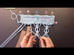 ▶ Vogue Knitting Spring/Summer 2014 #16 Macramé Back Piece - YouTube