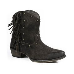 Roper Ladies' Cowboy Boot Brown Suede Fringe