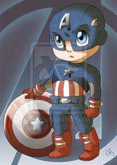 Chibi Avengers - Captain America by MymyArtzone on deviantART