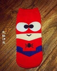 36-45 Summer Men Harajuku Socks Hip Hop Ninja Batman Superman SpiderMan Captain America Avengers Short Novelty Sokken