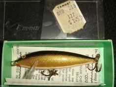 Vintage Fishing Lure Original Rapala Wobbler sinking uppoava 7cm CD - 7 G in Box