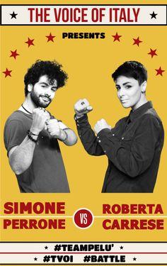 #Battle 2 - The Voice of Italy 2015 - #tvoi #SimonePerrone vs #RobertaCarrese #TeamPelù