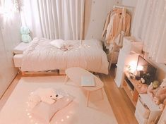 15 cute girls bedroom ideas for small rooms 00013 Korean Bedroom Ideas, Room Ideas Bedroom, Small Room Bedroom, Bedroom Decor, Bed Room, Small Rooms, Bedroom Colors, Dream Rooms, Dream Bedroom