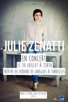 Julie Zenatti sera en concert le 30 Juillet au Théâtre de Verdure de Juhegues à Torreilles ! Reservation : https://torreilles.festik.net/julie-zenatti