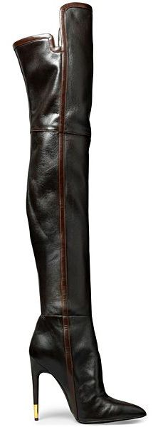 New TOM FORD BLACK LEATHER OVER THE KNEE BOOTS                                                                                                                                                                                 More