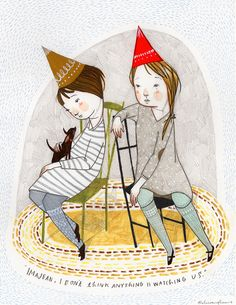 I was two years older than Ann, but our October birthdays were four days apart, so we always had shared birthday parties.  (Rebecca Green)