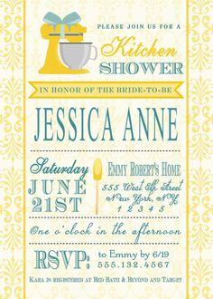 Kitchen Bridal Shower Invitation Printable by BigDayInvitations, $9.99