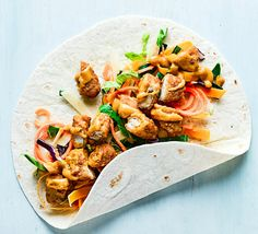Your favourite katsu curry in wrap form, ready in minutes! This simple supper is full of flavour, golden brown chicken and needs just 4 ingredients