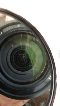 The reflection of my camera lens in a compact. For a shapes assignment.