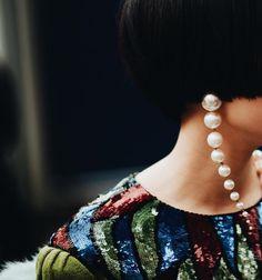 Earring, pearls