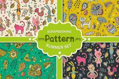 Summer patterns set by Sofimix on @creativemarket