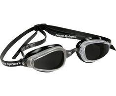 Aqua Sphere K180 Speed Swim Goggle, Black Silver – Tinted Lens