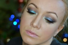 StellaLily Beauty: MAKEUP: piękny turkus i granat  | Propozycja na ka...