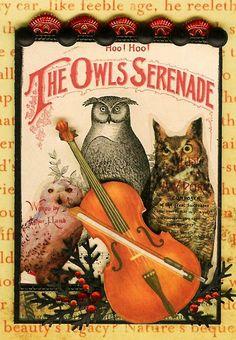 A Nostalgic Halloween: ATC - The Owls Serenade