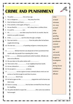 Crime and punishment vocabulary