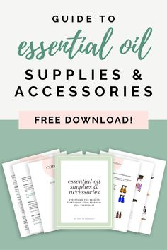 This guide contains everything you need to get started with essential oils. You will be able to use your essential oils every day!