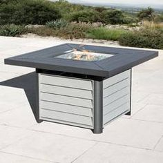 The Outdoor GreatRoom Company Kenwood Linear Dining Height Aluminum Propane/Natural Gas Fire Pit Table Propane Fire Pit Table, Wood Fire Pit, Fire Pit Bowl, Steel Fire Pit, Wood Burning Fire Pit, Fire Table, Fire Bowls, Fire Pit Uses, Natural Gas Fire Pit