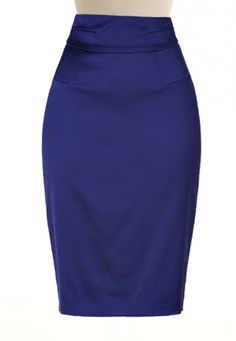 Royal-Blue-High-Waisted-Pencil-Skirt-front