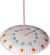 paper plate made into a sundial for preschool