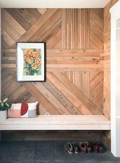 Interior Design Stylish Luxurious DIY Accent Wall Interior Ideas For Inspiration Vacuum Cleaner Wooden Accent Wall, Accent Wall Bedroom, Accent Walls, Wood Wall Design, Wood Wall Art, Wood Walls, Wood Interior Walls, Diy Wand, Accent Wall Designs